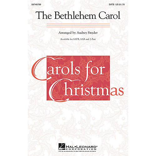Hal Leonard The Bethlehem Carol SAB Arranged by Audrey Snyder thumbnail