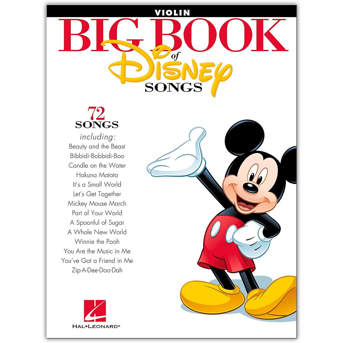 Hal Leonard The Big Book Of Disney Songs–Violin thumbnail