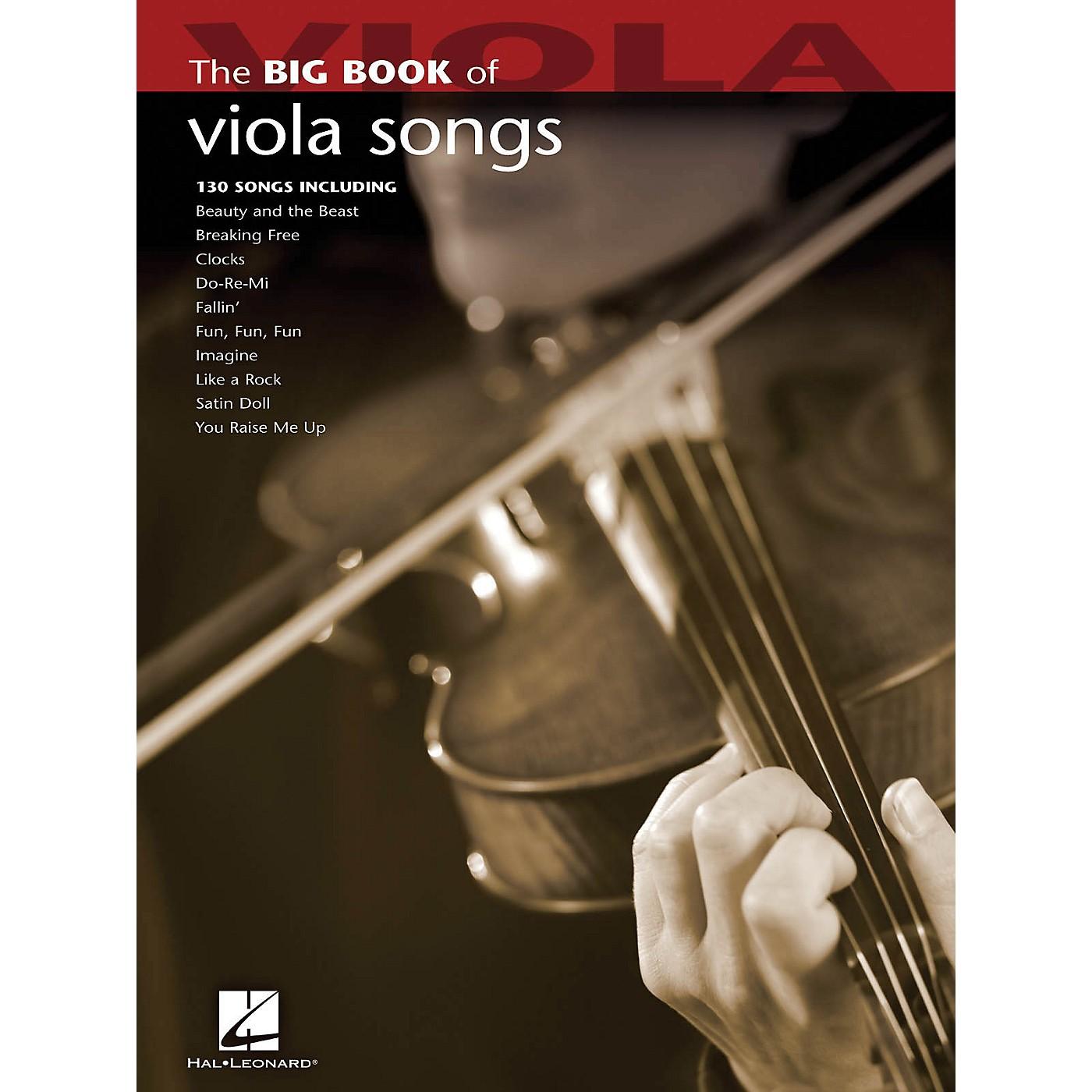 Hal Leonard The Big Book Of Viola Songs thumbnail