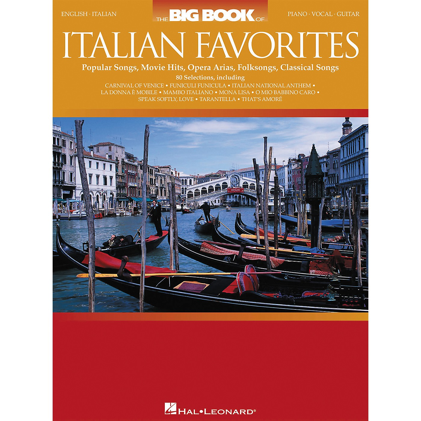 Hal Leonard The Big Book of Italian Favorites Piano/Vocal/Guitar Songbook thumbnail
