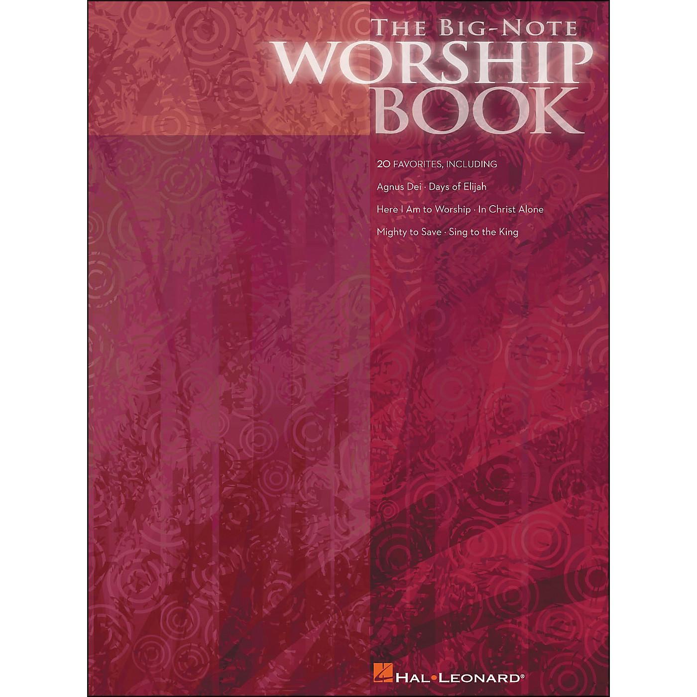 Hal Leonard The Big Note Piano Worship Book thumbnail
