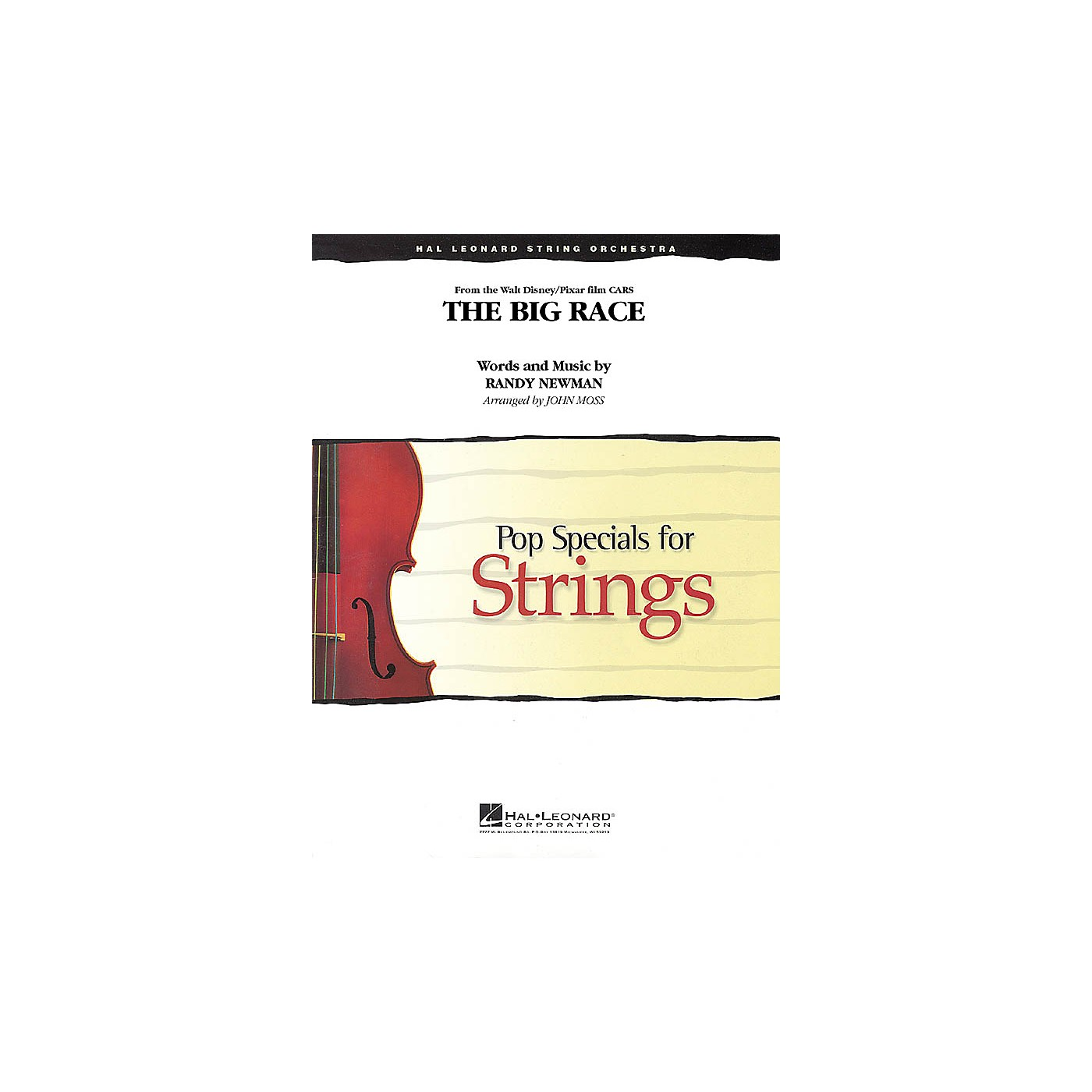 Hal Leonard The Big Race (from Cars) Pop Specials for Strings Series Softcover Arranged by John Moss thumbnail