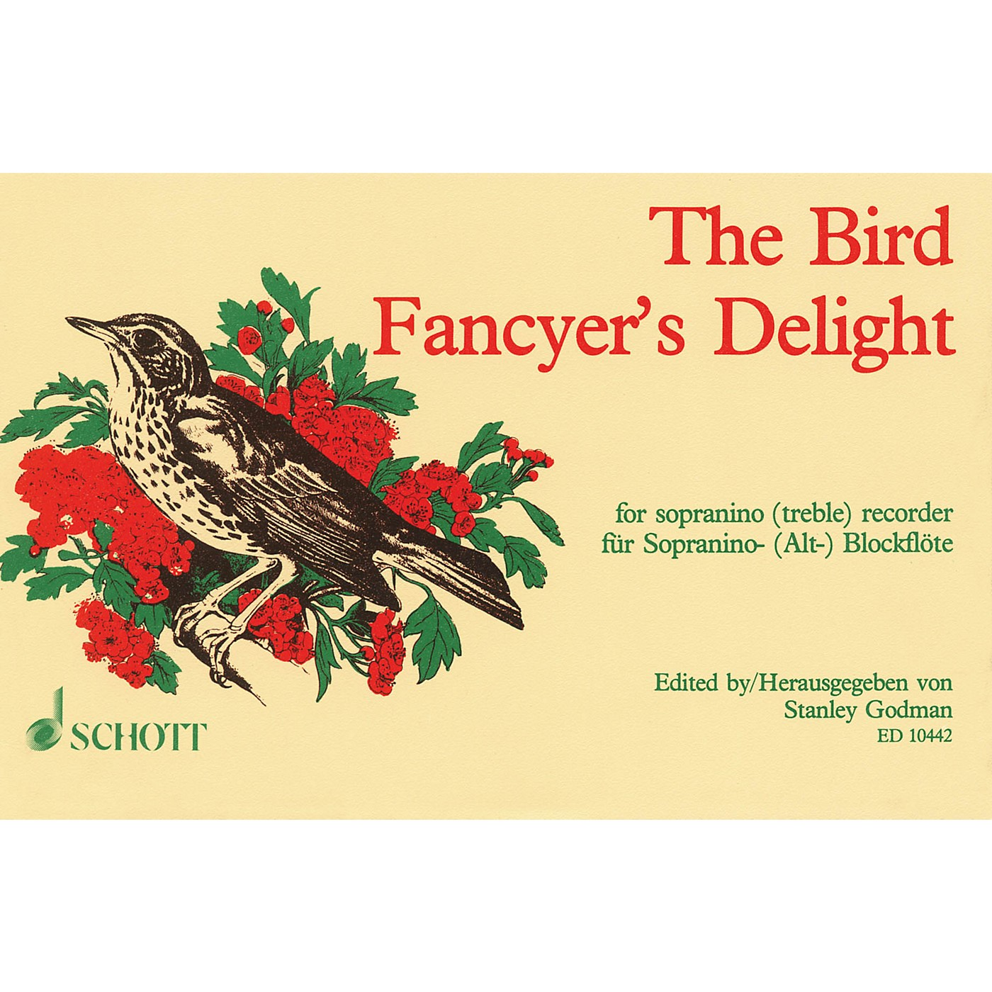 Schott The Bird Fancyer's Delight (for Sopranino (Treble) Recorder) Schott Series Softcover thumbnail
