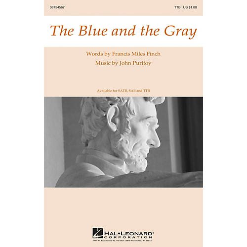 Hal Leonard The Blue and the Gray TBB composed by John Purifoy thumbnail
