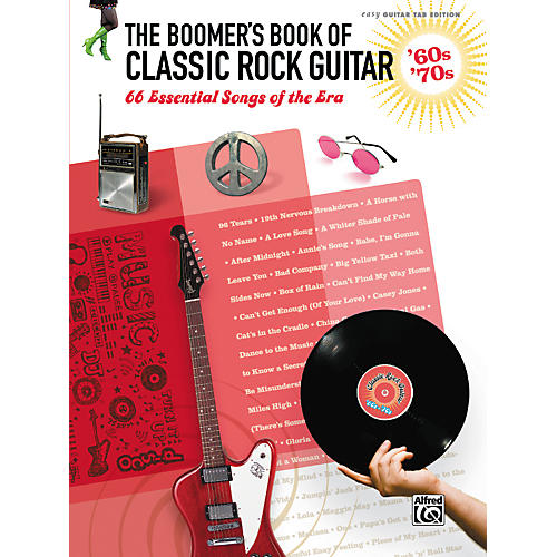 Alfred The Boomer's Book of Classic Rock Guitar '60s - '70s Easy Guitar TAB thumbnail