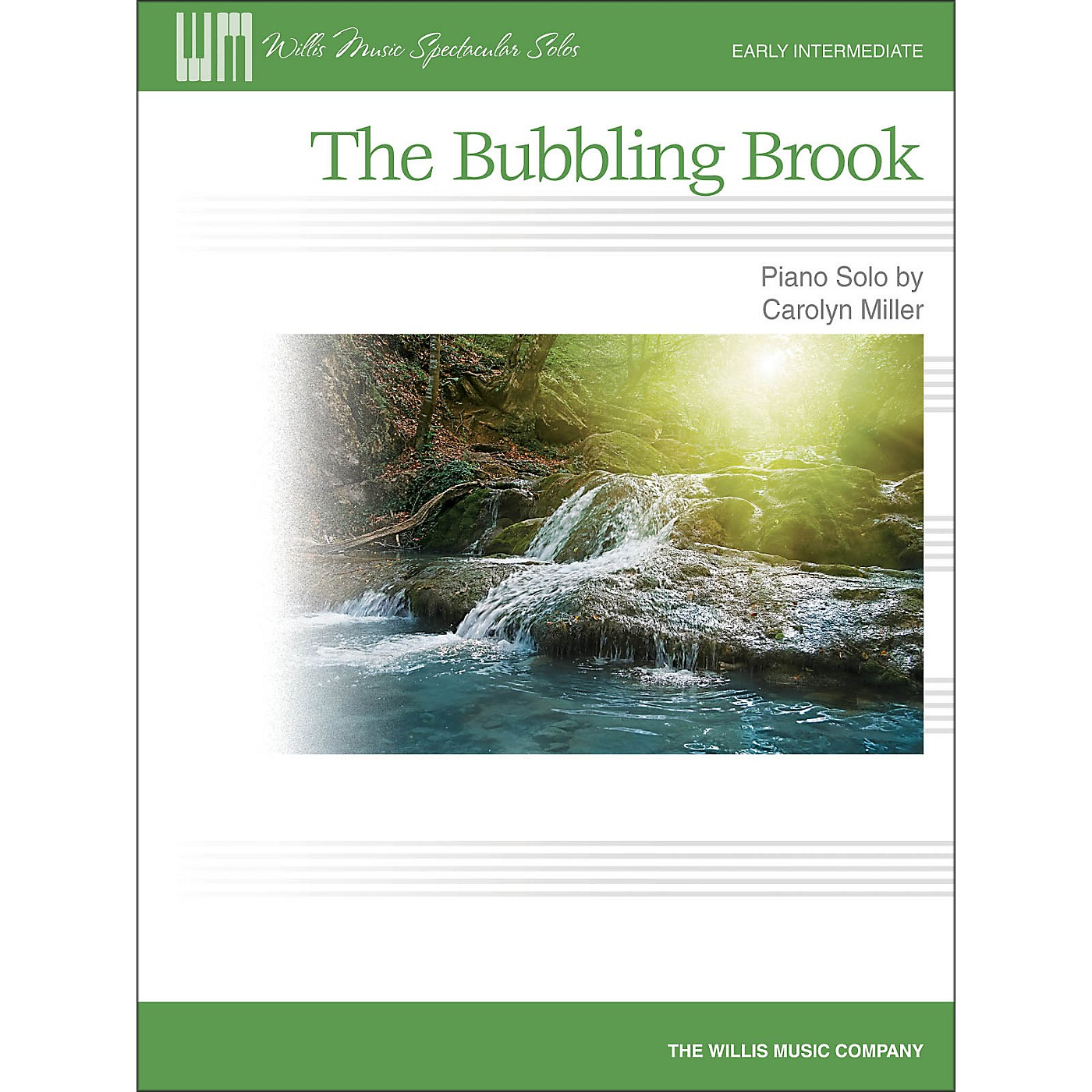 Willis Music The Bubbling Brook - Early Intermediate Piano Solo Sheet thumbnail