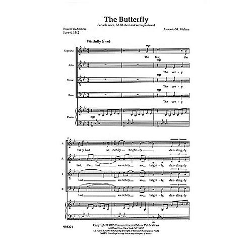 Transcontinental Music The Butterfly SATB composed by Anton Molina thumbnail