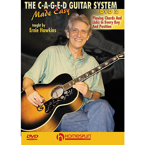 Homespun The C-A-G-E-D Guitar System Made Easy Instructional/Guitar/DVD Series DVD Performed by Ernie Hawkins thumbnail