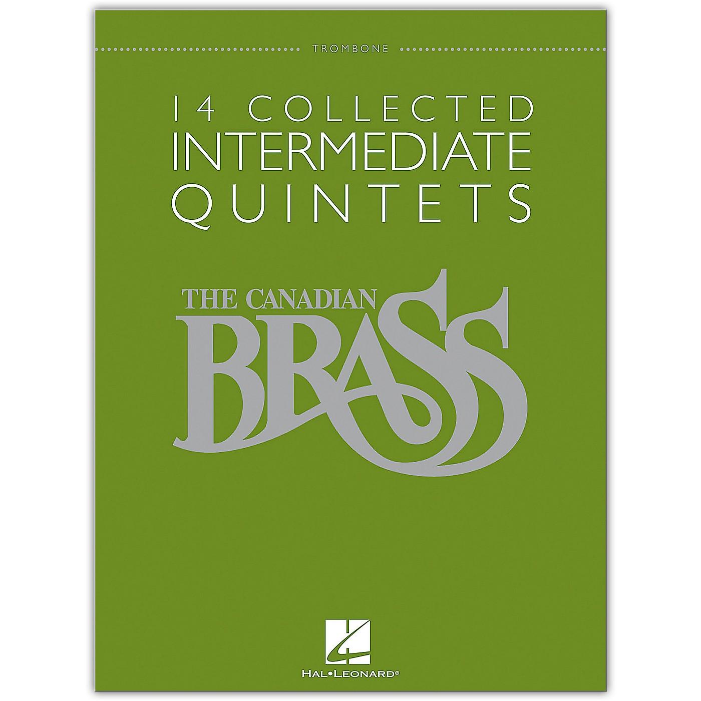 Hal Leonard The Canadian Brass: 14 Collected Intermediate Quintets - Trombone - Brass Quintet thumbnail