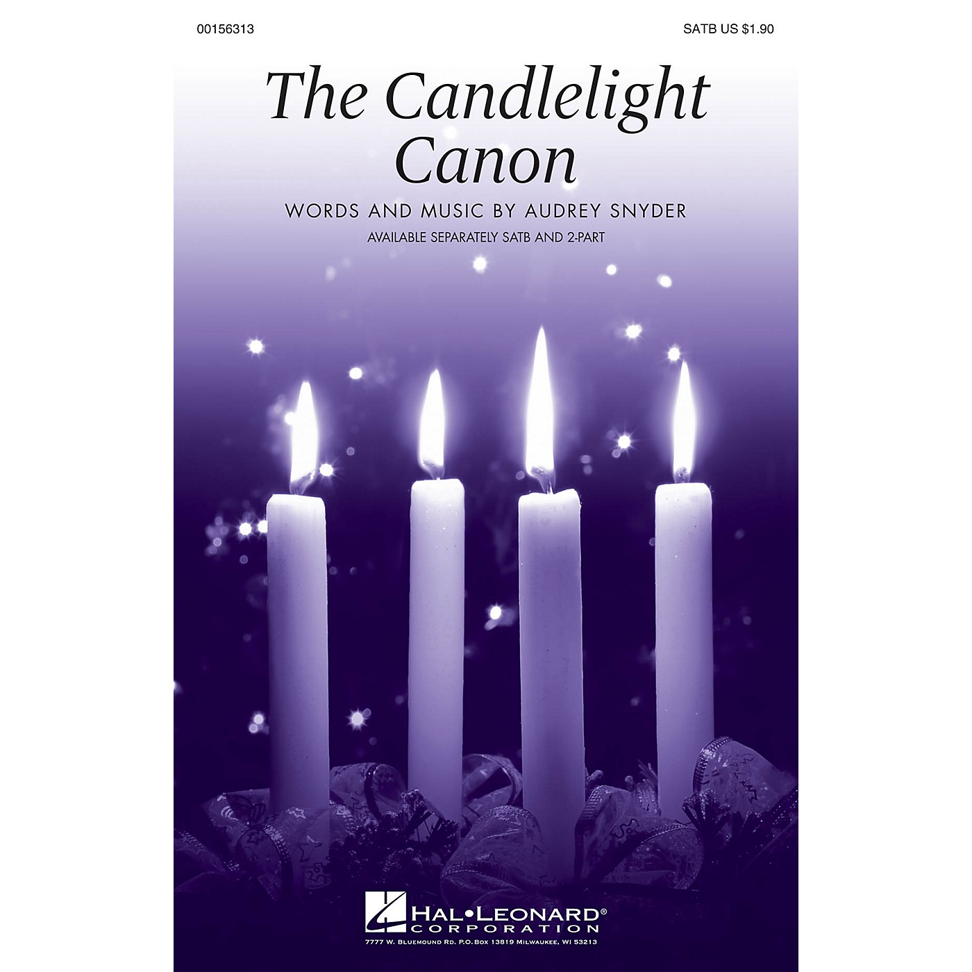 Hal Leonard The Candlelight Canon SATB composed by Audrey Snyder thumbnail