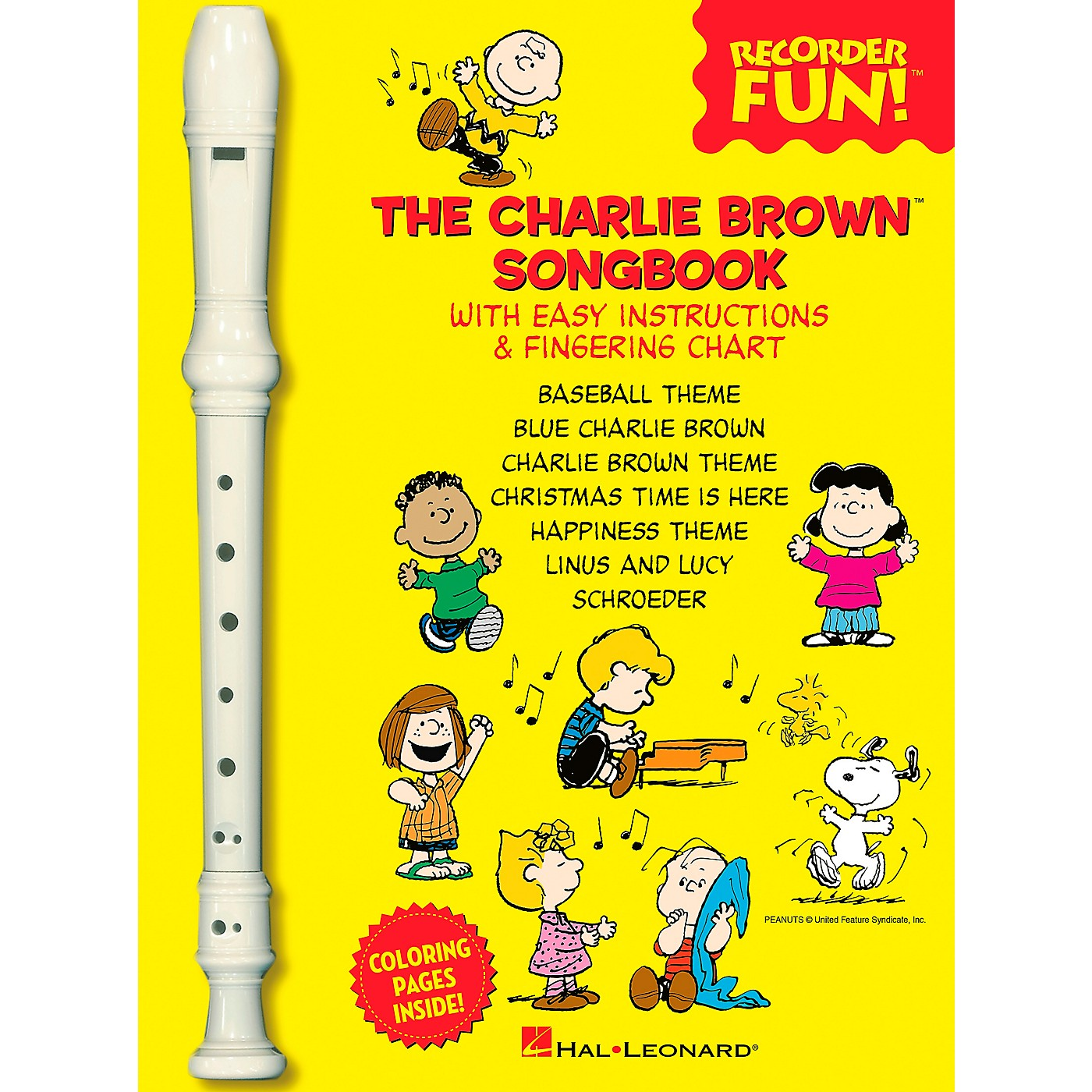 Hal Leonard The Charlie Brown Songbook - Recorder Fun Book/Recorder Pack thumbnail