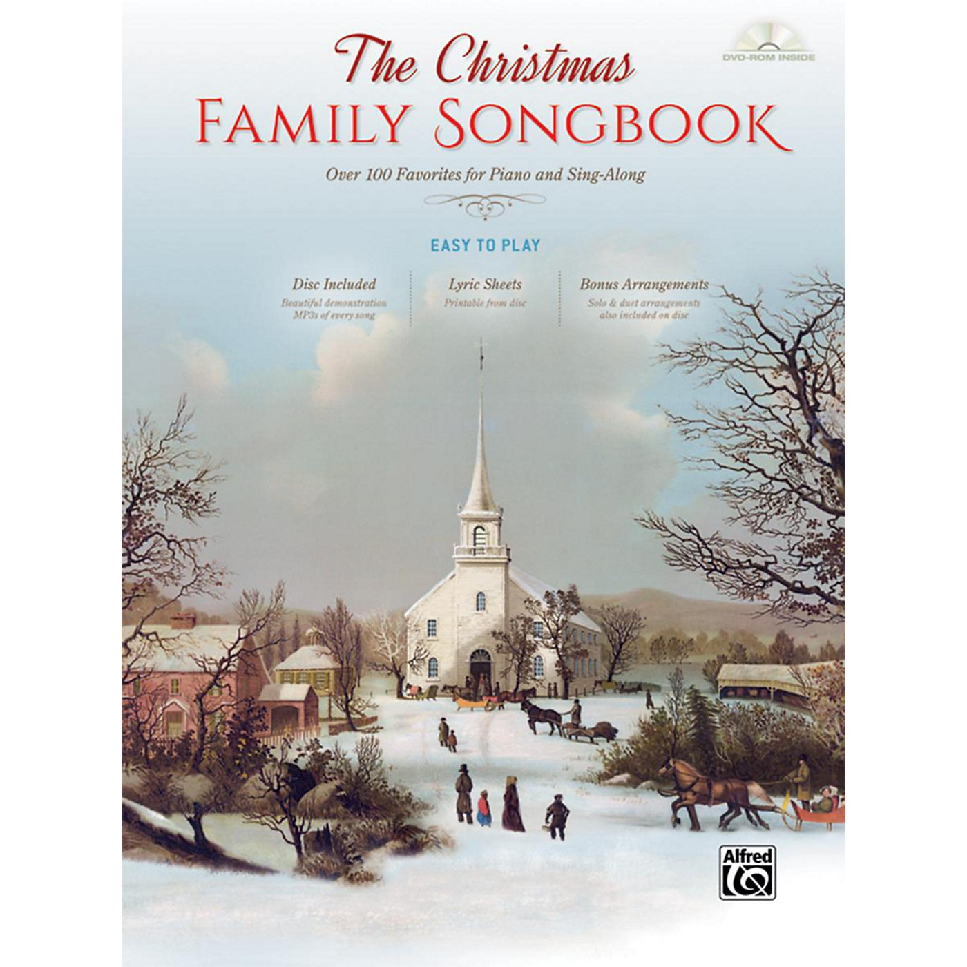 Alfred The Christmas Family Songbook Hardcover Easy Piano/Vocal Book & DVD-ROM thumbnail