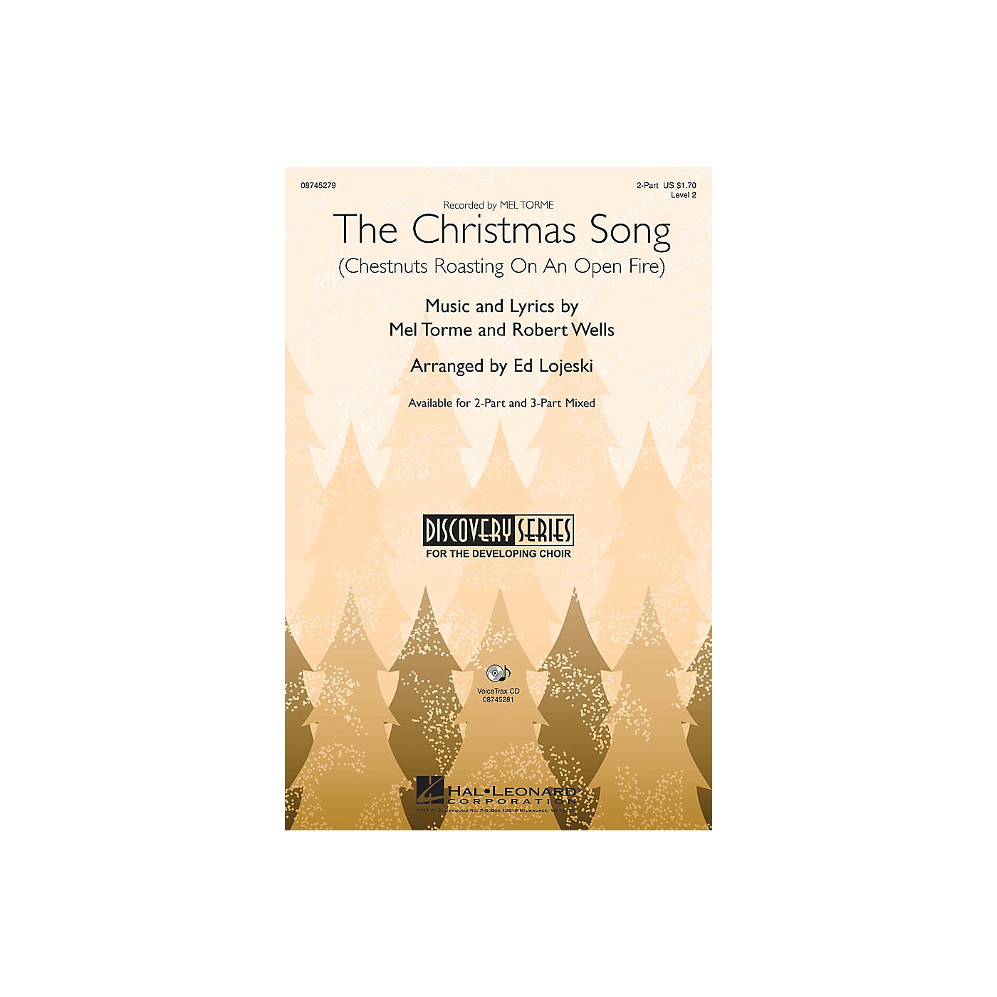 Hal Leonard The Christmas Song (Chestnuts Roasting on an Open Fire) 2-Part arranged by Ed Lojeski thumbnail