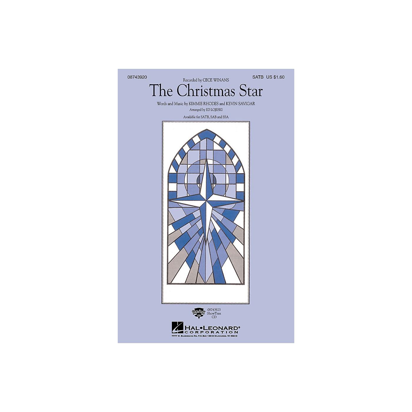 Hal Leonard The Christmas Star SATB by CeCe Winans arranged by Ed Lojeski thumbnail