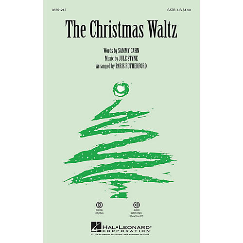 Hal Leonard The Christmas Waltz SATB arranged by Paris Rutherford thumbnail