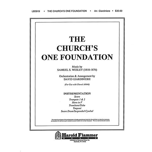 Shawnee Press The Church's One Foundation Instrumental Parts arranged by David Giardiniere thumbnail