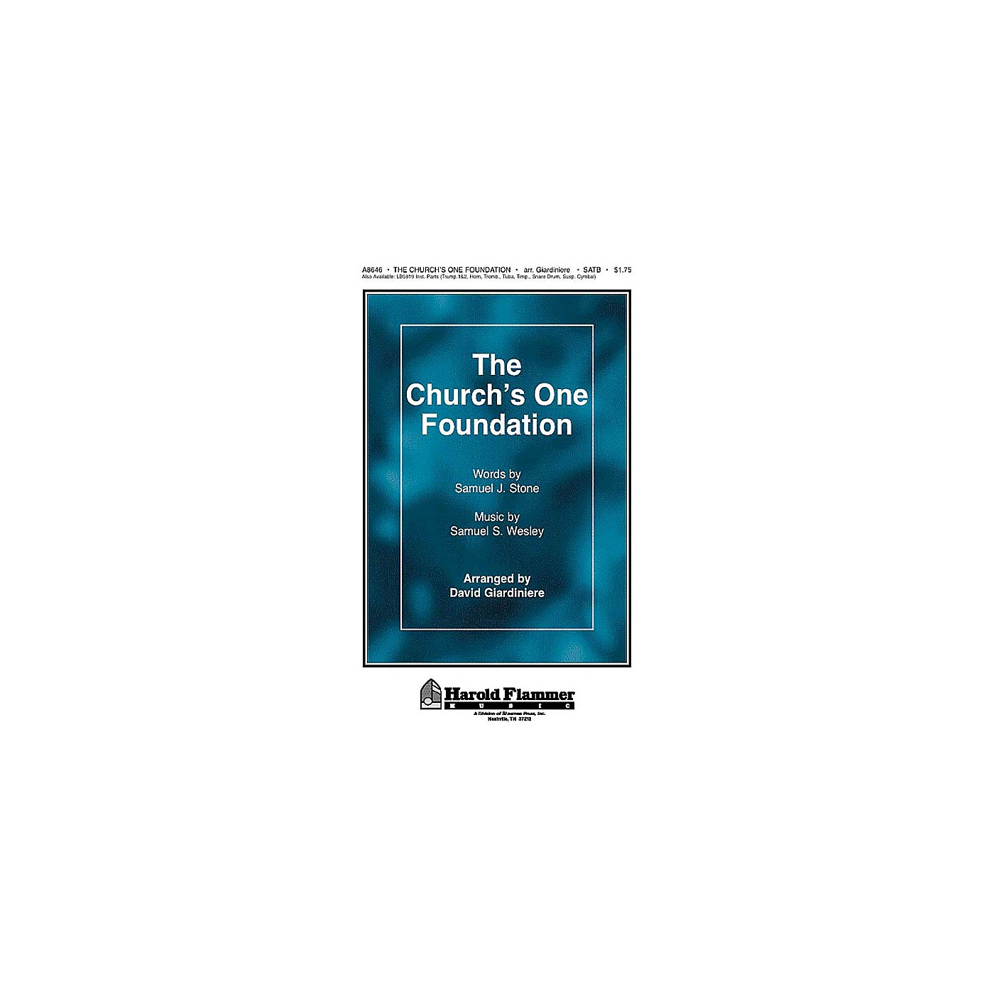 Shawnee Press The Church's One Foundation SATB arranged by David Giardiniere thumbnail