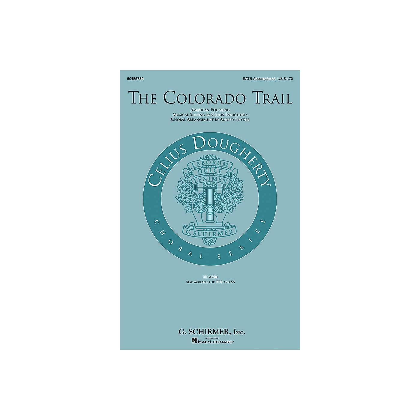G. Schirmer The Colorado Trail SATB arranged by Audrey Snyder thumbnail