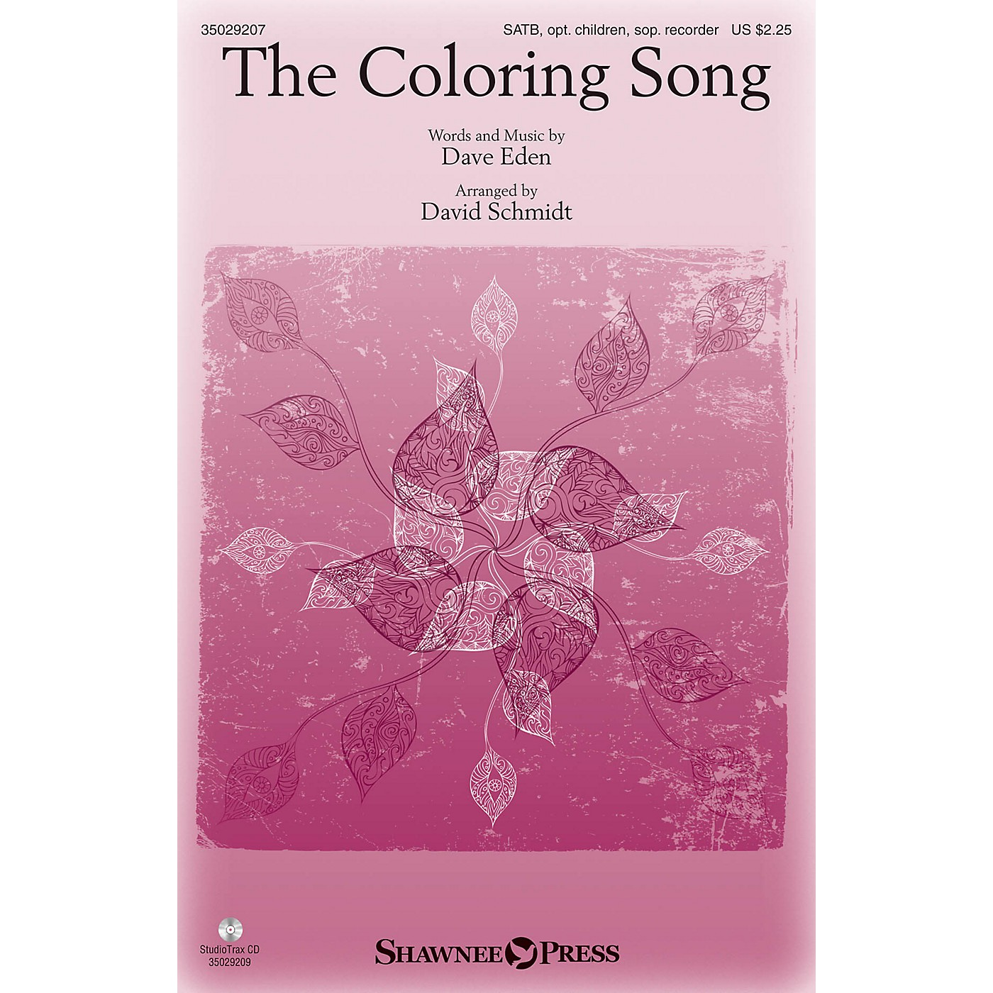 Shawnee Press The Coloring Song SATB arranged by David Schmidt thumbnail