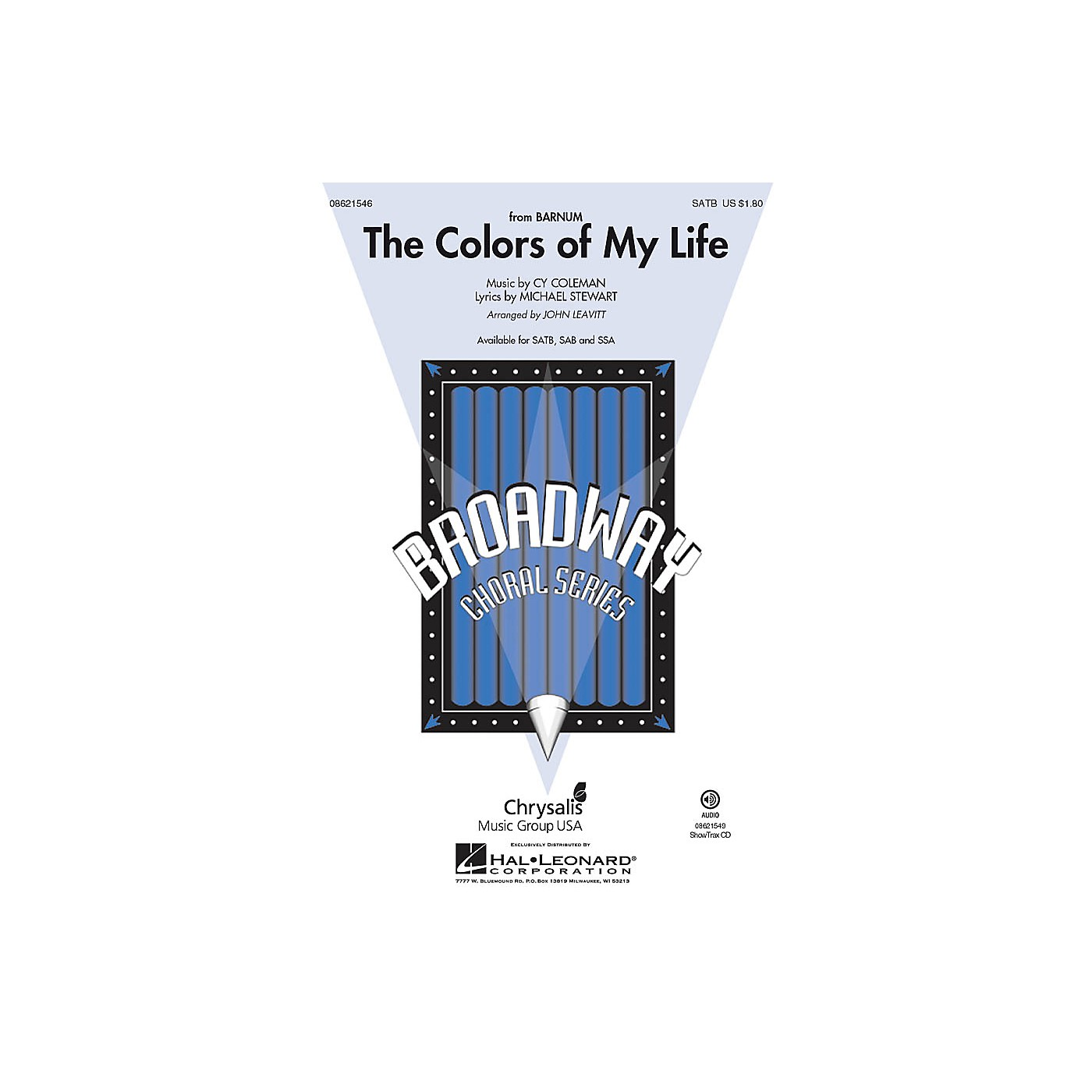 Hal Leonard The Colors of My Life (from Barnum) SAB Arranged by John Leavitt thumbnail