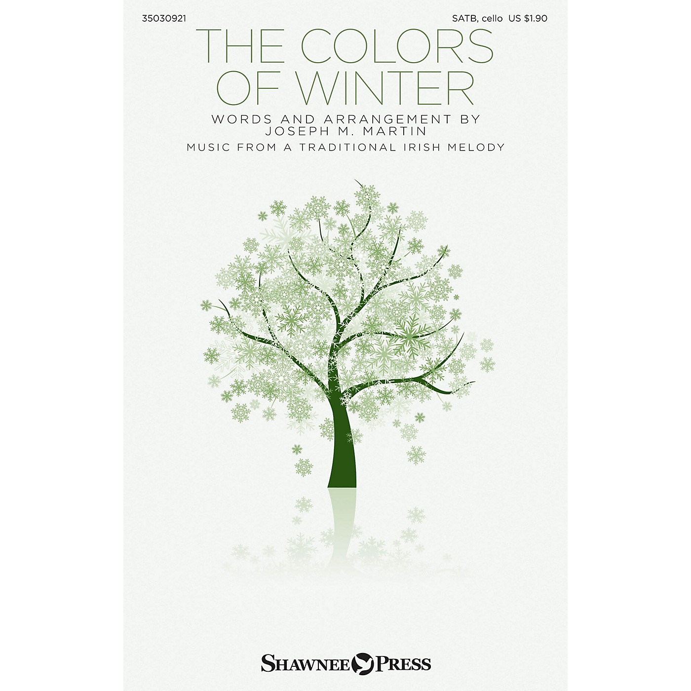 Shawnee Press The Colors of Winter SATB W/ CELLO composed by Traditional Irish Melody thumbnail