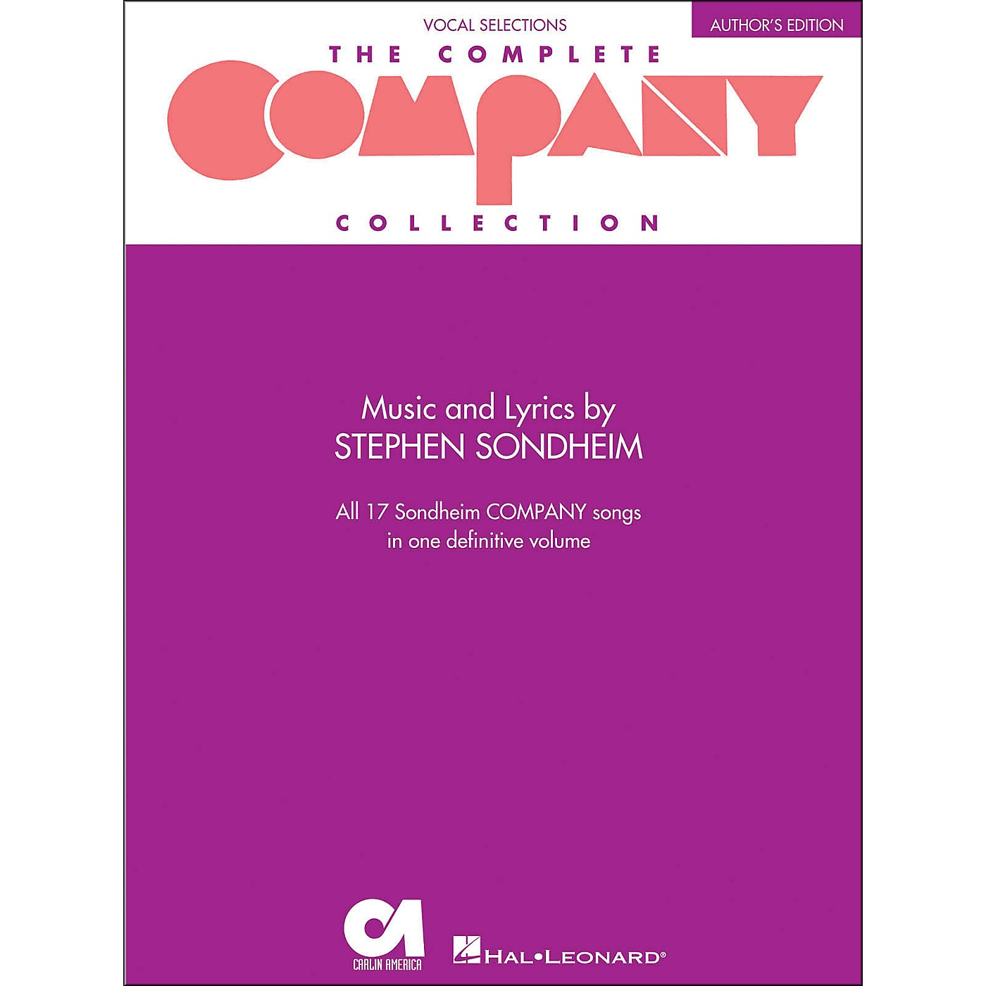 Hal Leonard The Complete Company Collection - Author's Edition Revised arranged for piano, vocal, and guitar (P/V/G) thumbnail