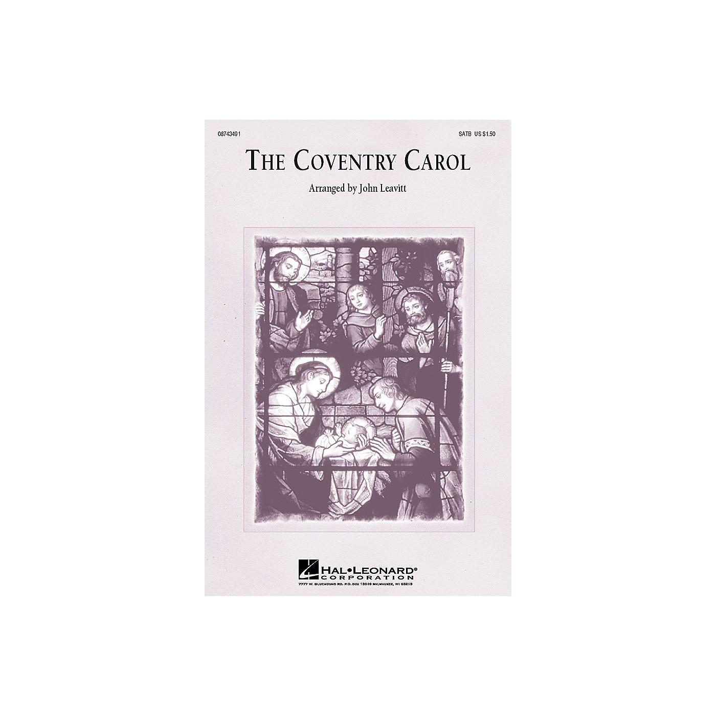 Hal Leonard The Coventry Carol SATB arranged by John Leavitt thumbnail