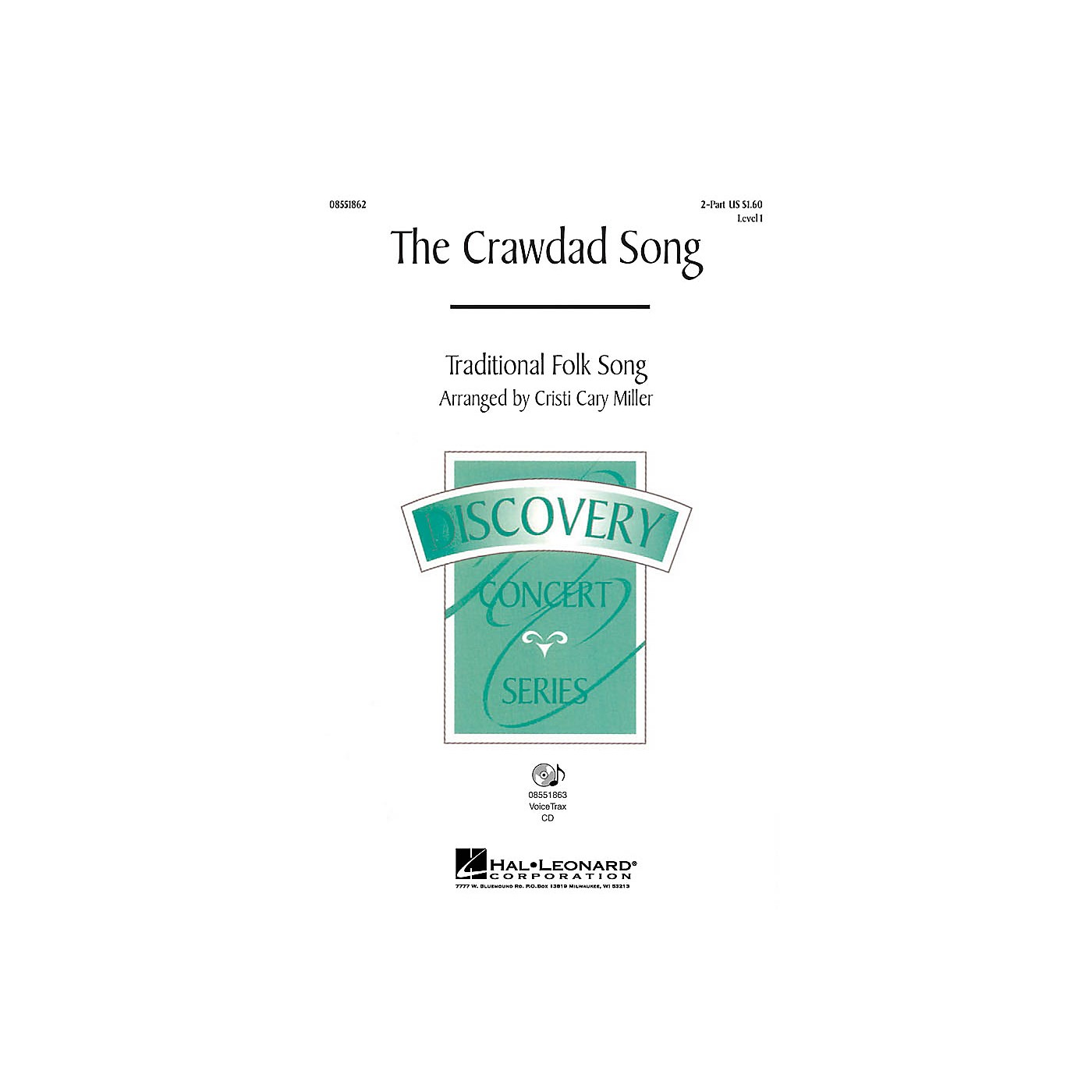 Hal Leonard The Crawdad Song 2-Part arranged by Cristi Cary Miller thumbnail