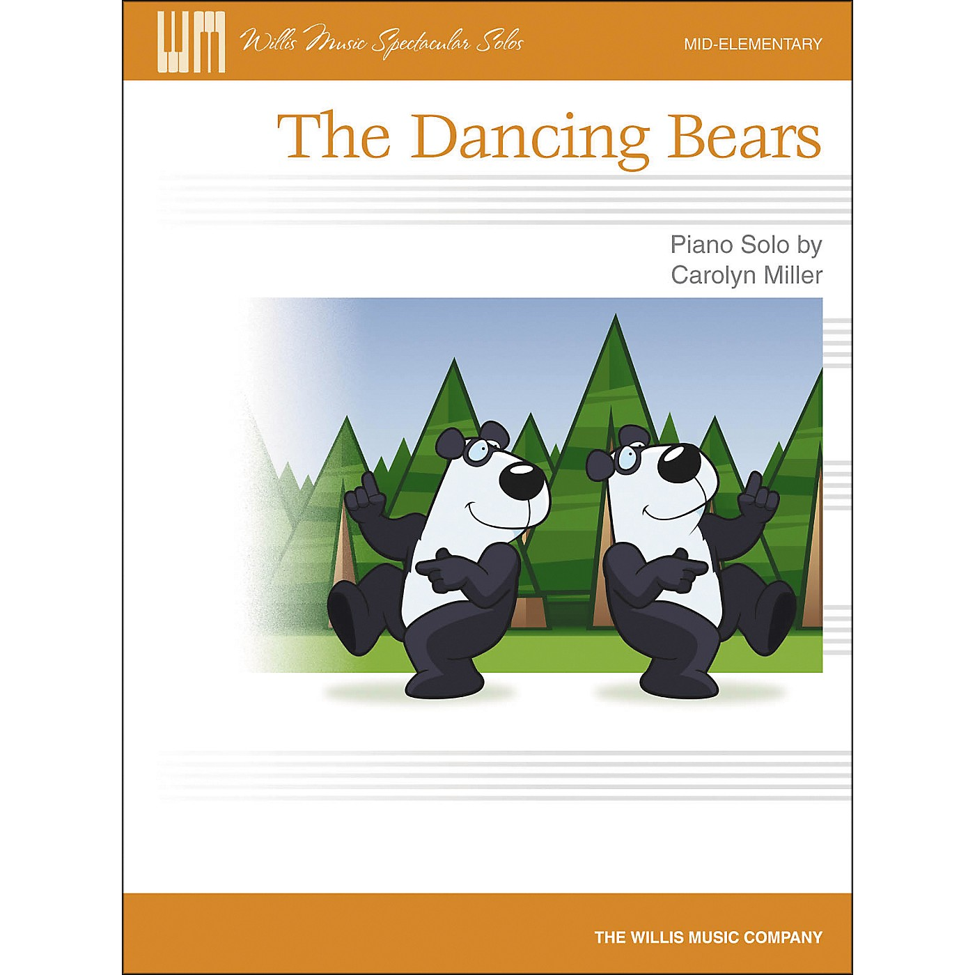 Willis Music The Dancing Bears - Mid-Elementary Piano Solo Sheet by Carolyn Miller thumbnail