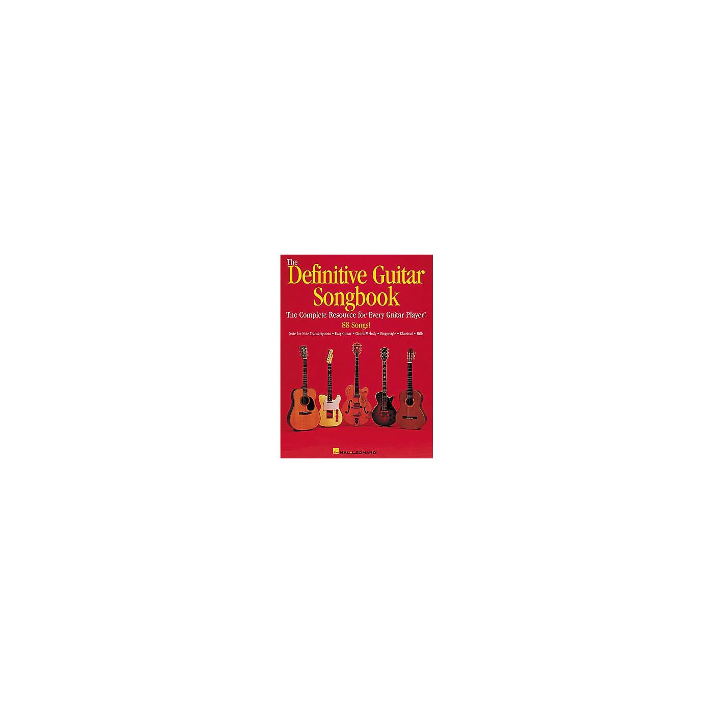 Hal Leonard The Definitive Guitar Songbook thumbnail