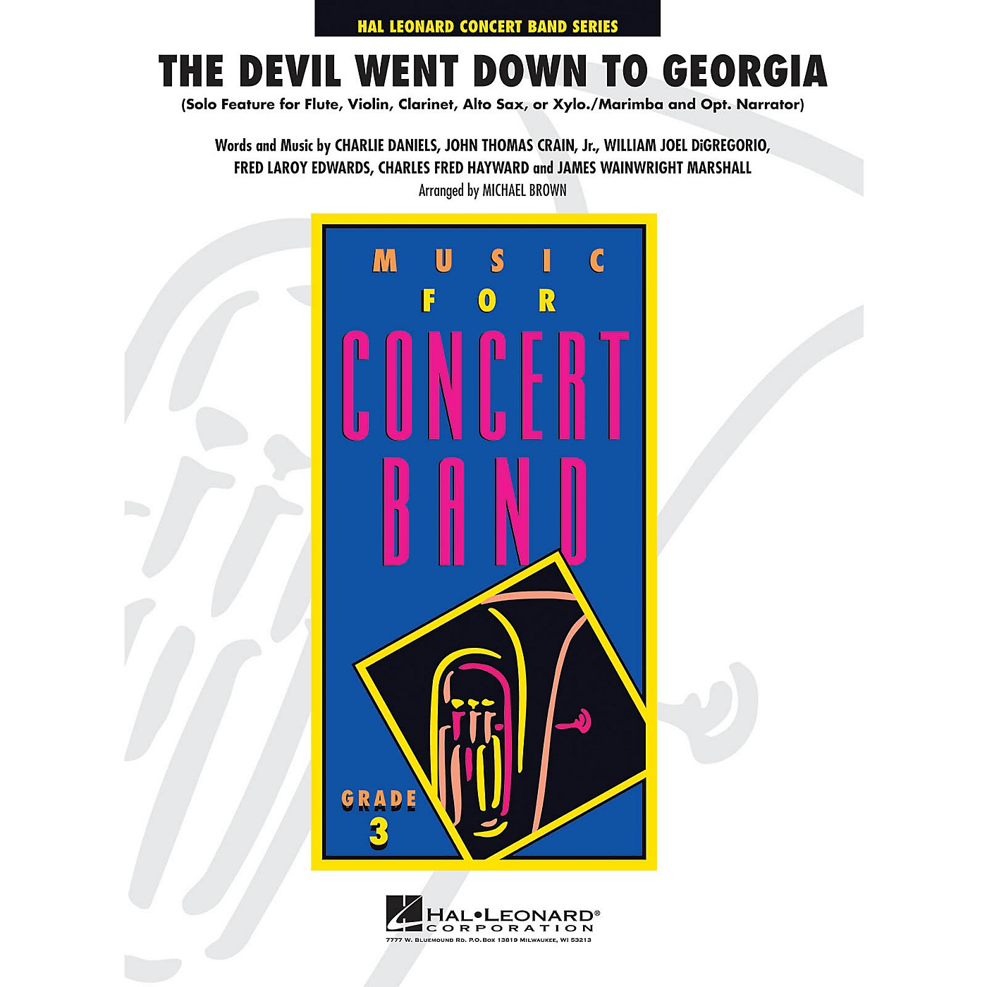 Hal Leonard The Devil Went Down to Georgia - Young Concert Band Level 3 by Michael Brown thumbnail
