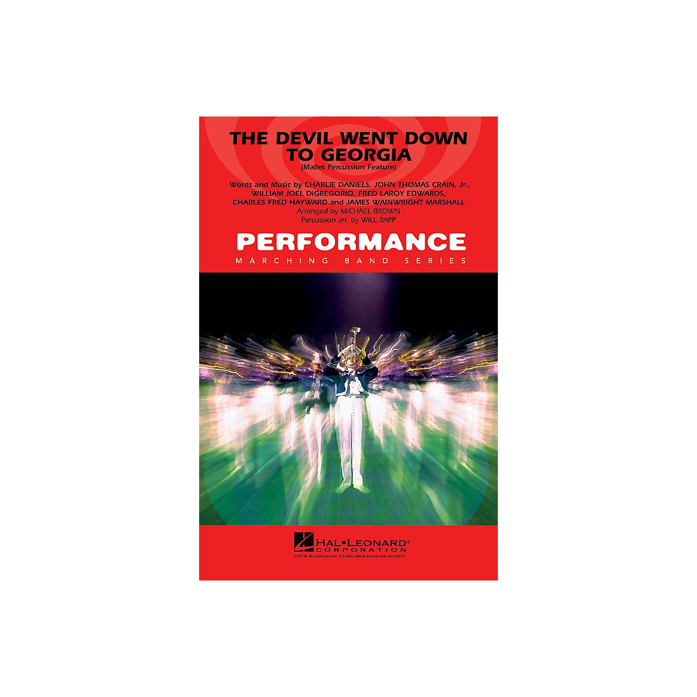 Hal Leonard The Devil Went Down to Georgia (Mallet Percussion Feature) Marching Band Level 4 Arranged by Will Rapp thumbnail
