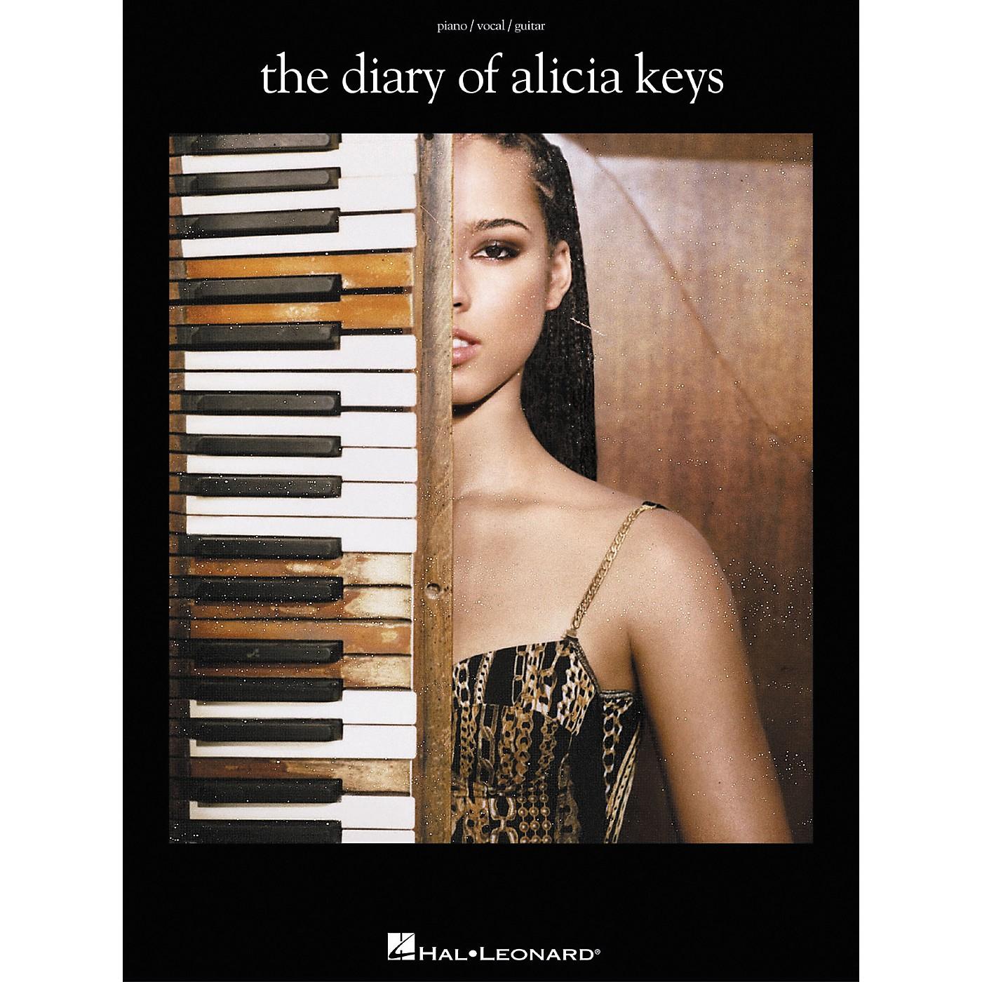 Hal Leonard The Diary of Alicia Keys Piano, Vocal, Guitar Songbook thumbnail