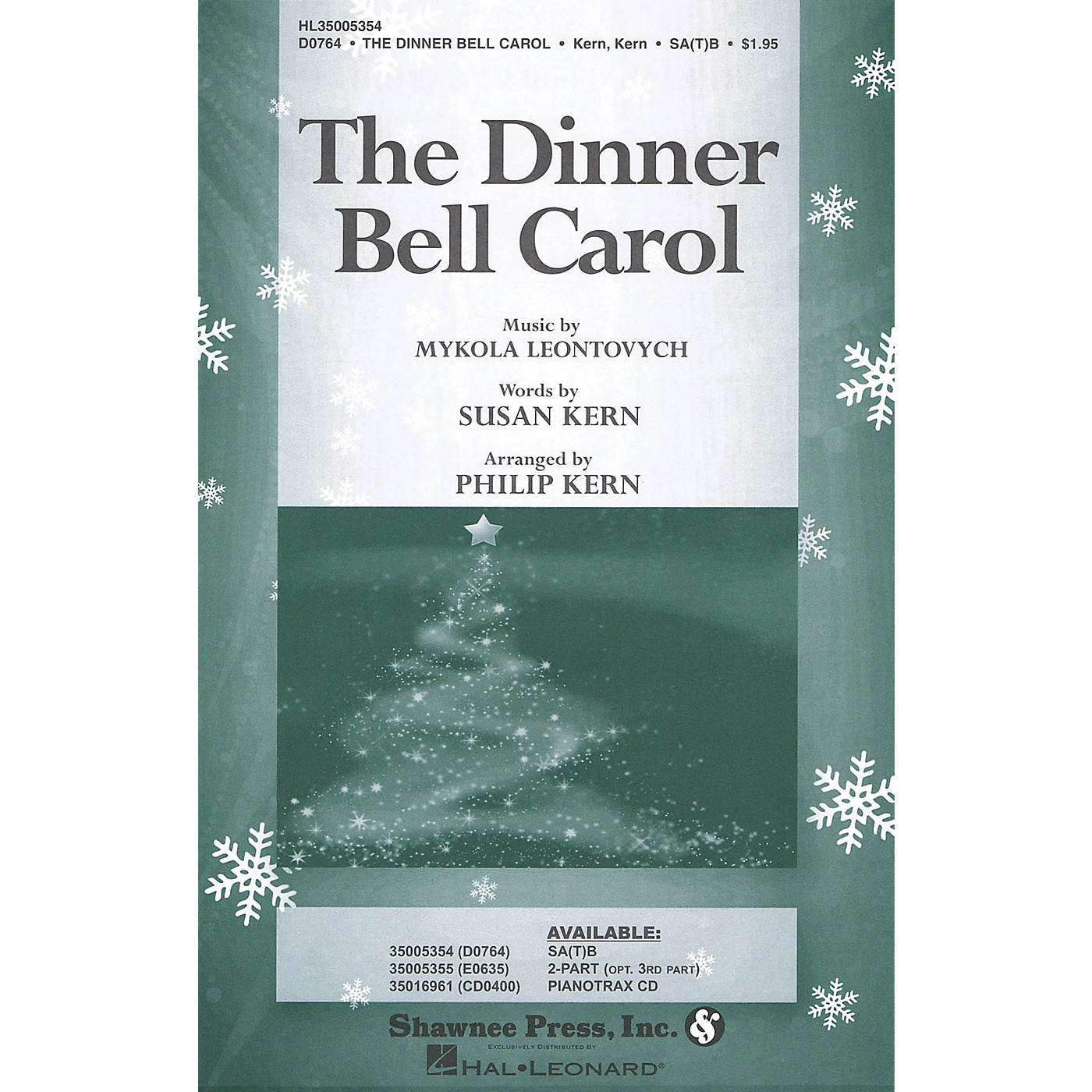 Shawnee Press The Dinner Bell Carol SA(T)B arranged by Philip Kern thumbnail