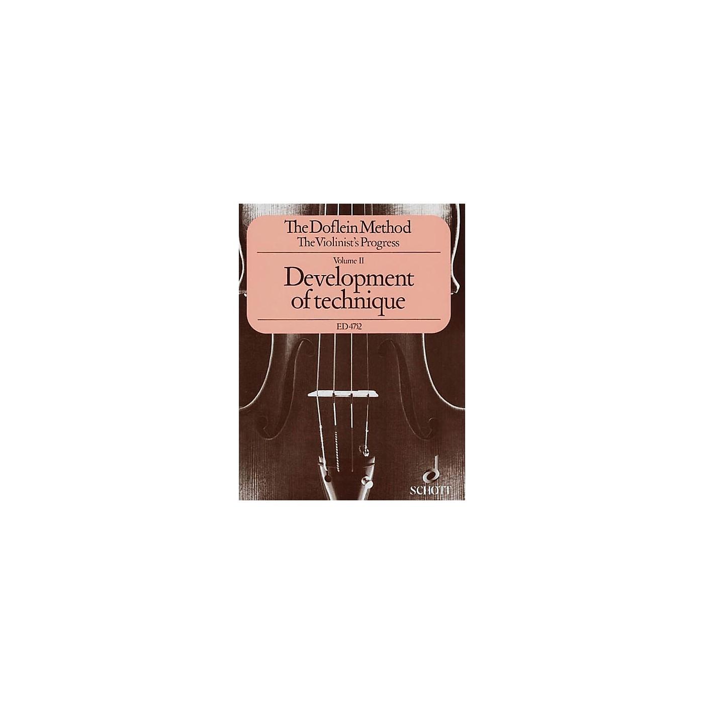 Schott The Doflein Method (Volume 2: Development of Technique) Schott Series thumbnail
