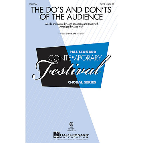 Hal Leonard The Do's and Don'ts of the Audience 2-Part Arranged by Mac Huff thumbnail