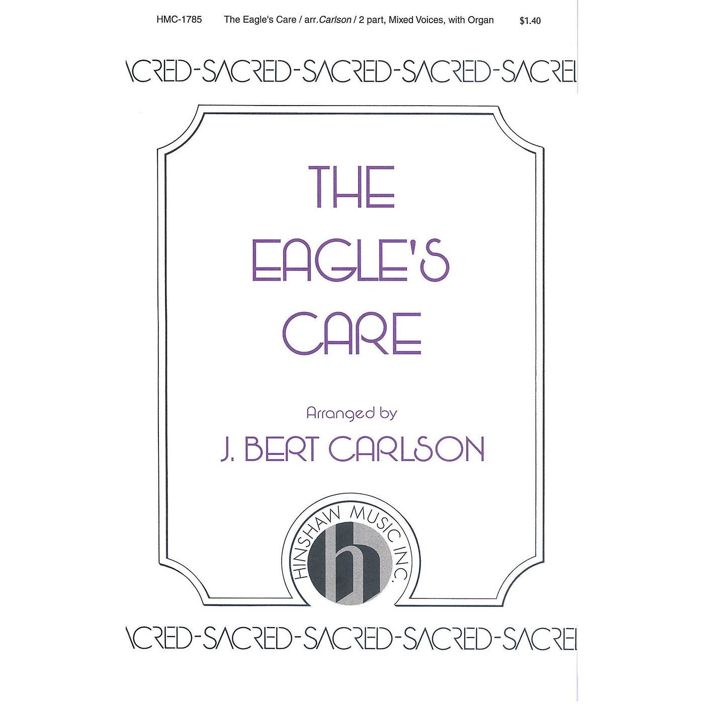 Hinshaw Music The Eagle's Care 2-Part arranged by Carlson thumbnail