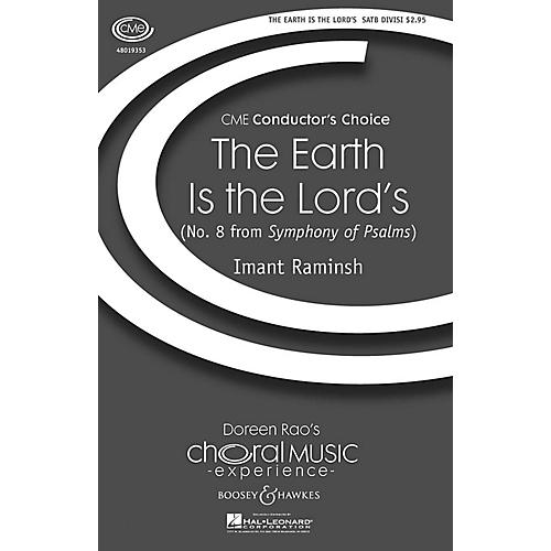 Boosey and Hawkes The Earth Is the Lord's (No. 8 from Symphony of Psalms) CME In High Voice SATB composed by Imant Raminsh thumbnail