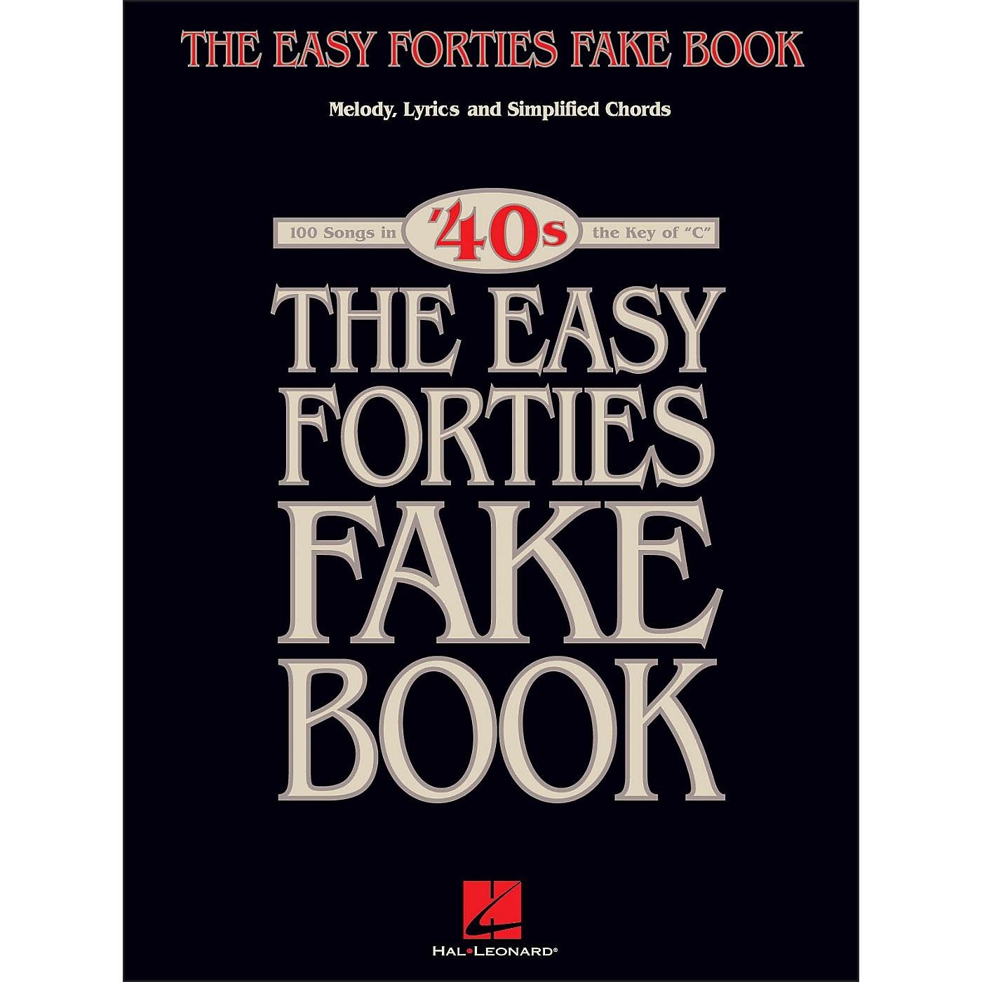 Hal Leonard The Easy 40's Fake Book - Melody, Lyrics, Simplified Chords Key Of C thumbnail