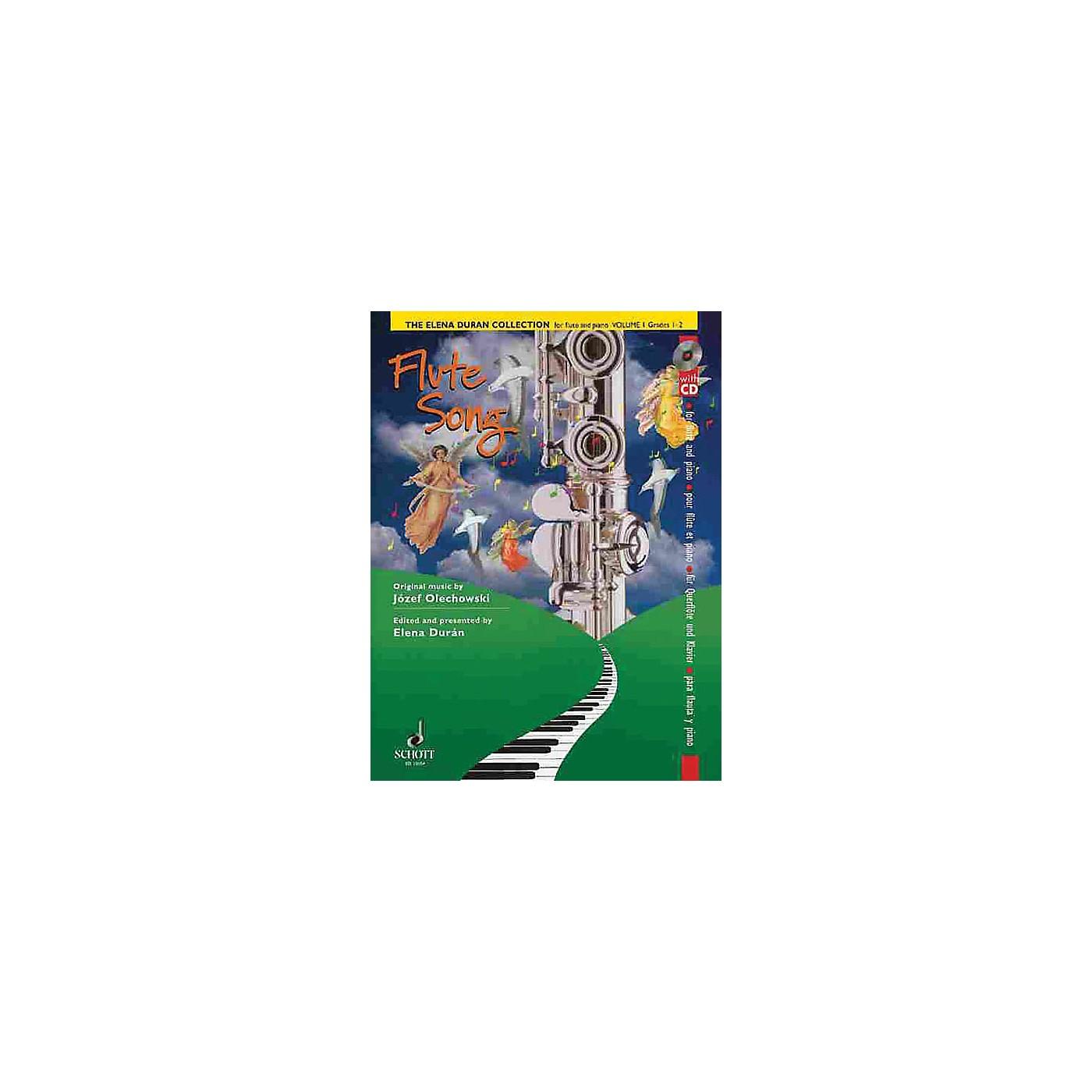 Schott The Elena Durán Collection (Volume I: Flute Songs (Grades 1-2)) Schott Series thumbnail