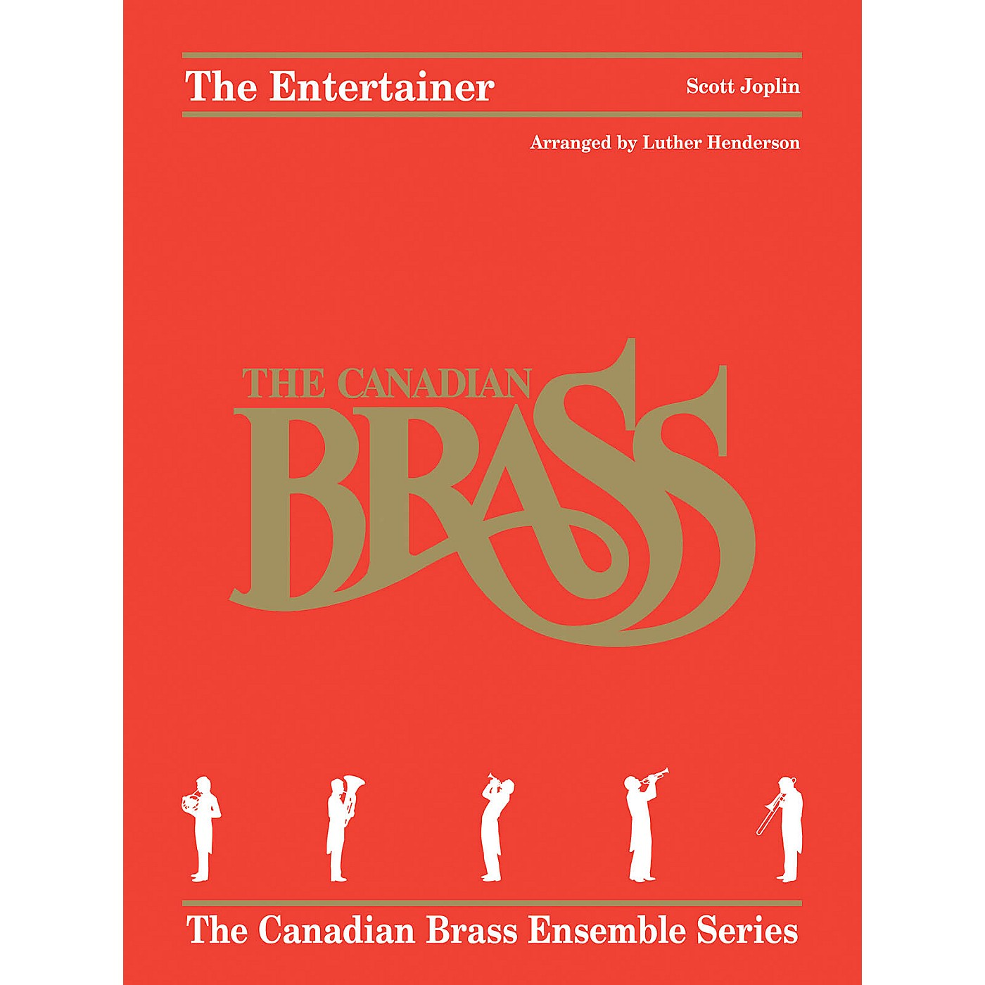 Hal Leonard The Entertainer Brass Ensemble Series Book by Canadian Brass Arranged by Luther Henderson thumbnail