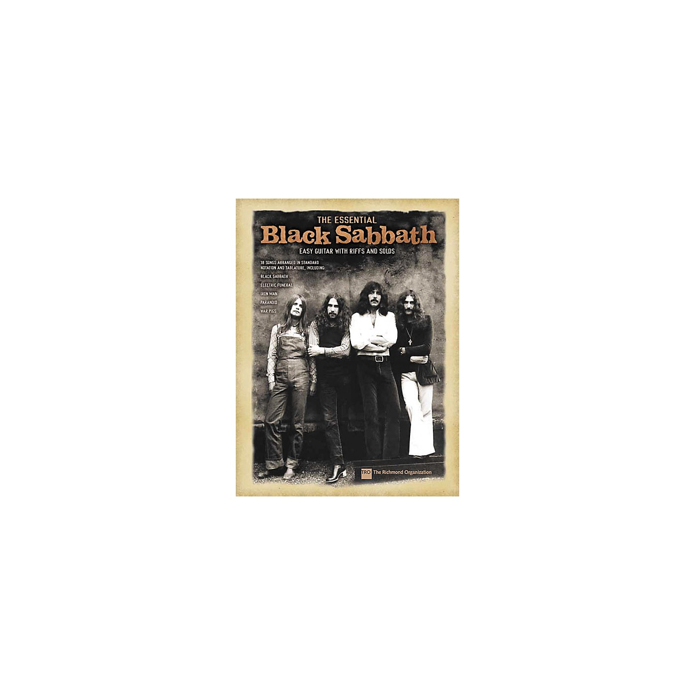 Hal Leonard The Essential Black Sabbath Easy Guitar Tab Songbook thumbnail