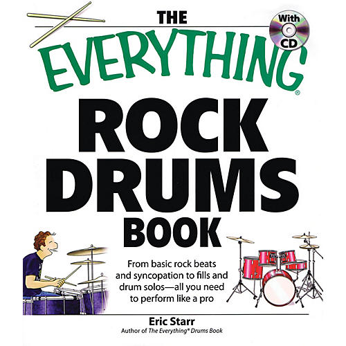 Adams Media The Everything Rock Drums Book Book Series Softcover with CD Written by Eric Starr thumbnail
