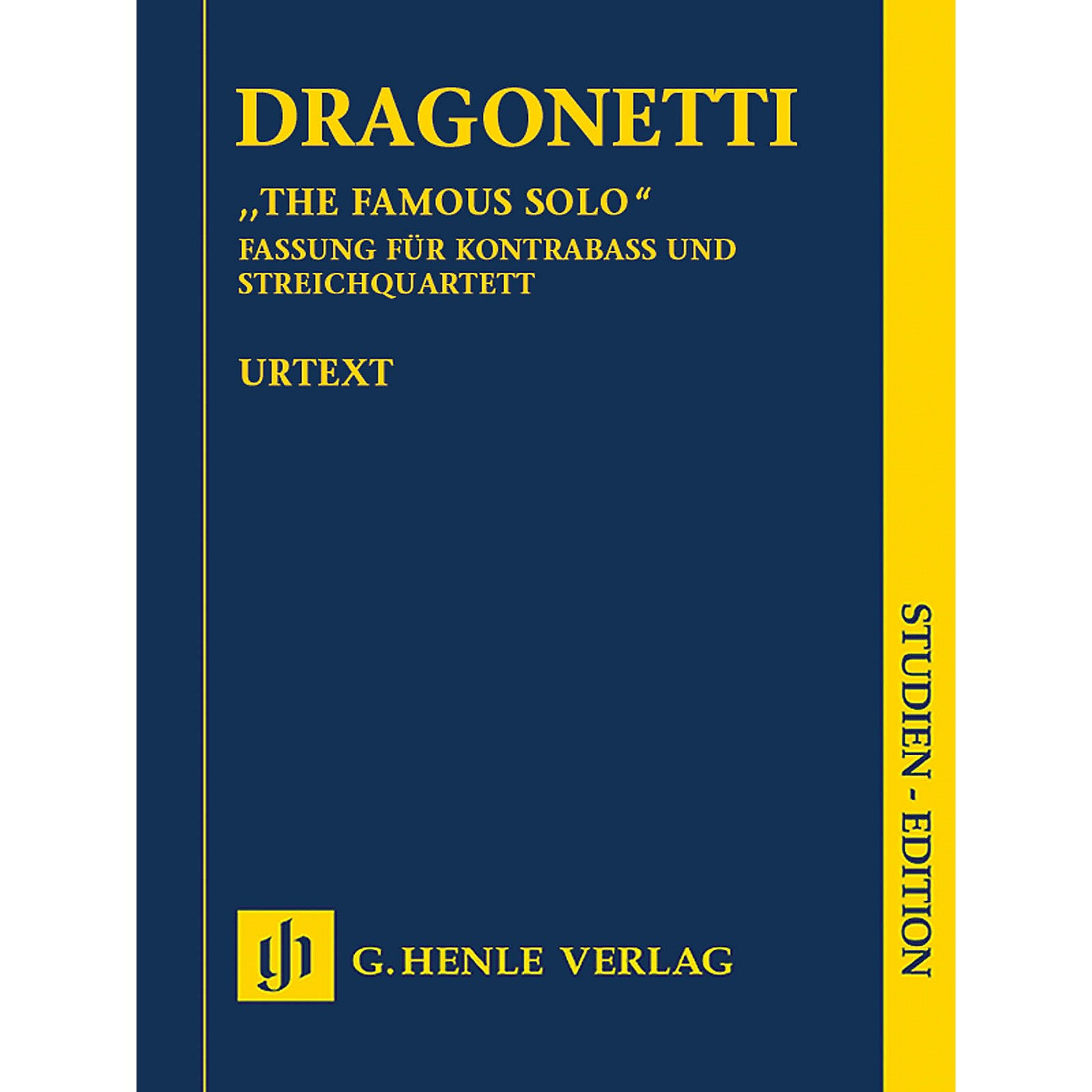 G. Henle Verlag The Famous Solo for Double Bass and Orchestra Henle Study Scores by Dragonetti Edited by Tobias Glöckler thumbnail
