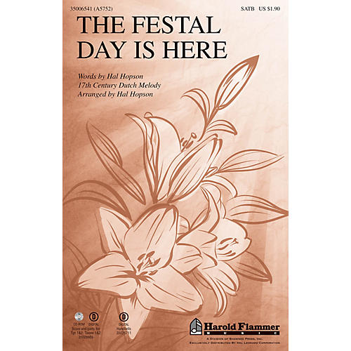 Shawnee Press The Festal Day Is Here SATB arranged by Hal Hopson thumbnail