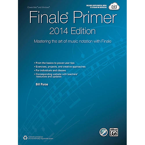 Alfred The Finale Primer: 2014 Edition Mastering the Art of Music Notation with Finale Book thumbnail