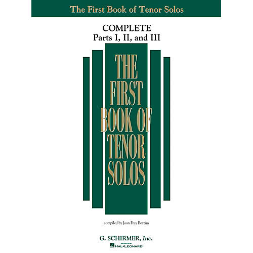 G. Schirmer The First Book Of Tenor Solos Complete Parts 1, 2 and 3 thumbnail