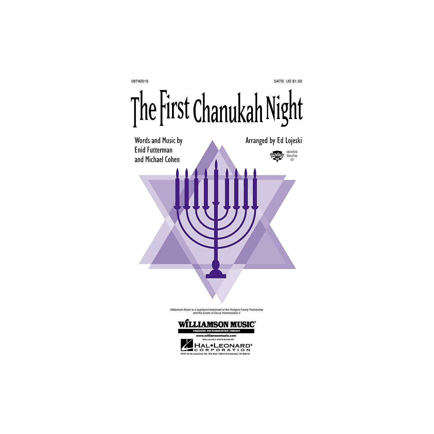 Hal Leonard The First Chanukah Night ShowTrax CD Arranged by Ed Lojeski thumbnail