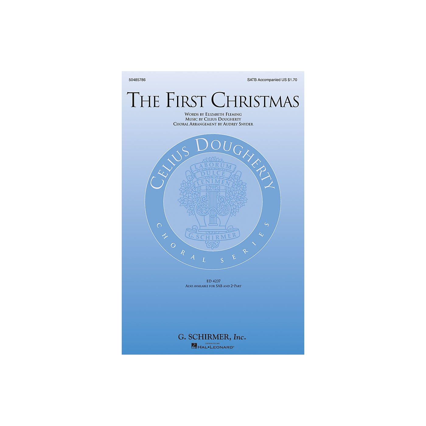 G. Schirmer The First Christmas SATB arranged by Audrey Snyder thumbnail
