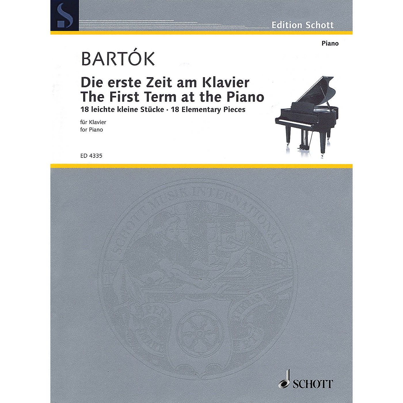 Schott The First Term at the Piano - 18 Elementary Pieces Schott Series Softcover thumbnail